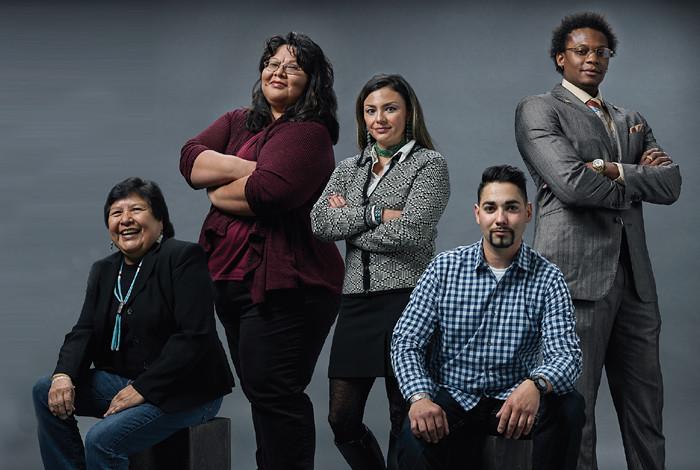 Jeannie Sandoval, Povi Cruz, Corina Gonzales, Gabriel Gallegos and Kwyntero Kelso
