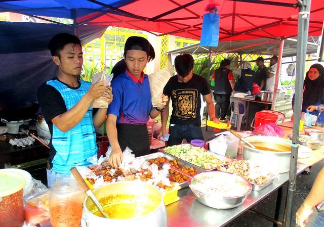 Nasi kak wok stall