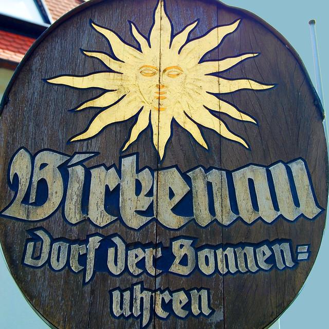 Birkenau im Odenwald, das Dorf der Sonnenuhren ... Fotos: Brigitte Stolle
