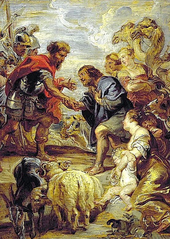 Примирение Иакова с Исавом.