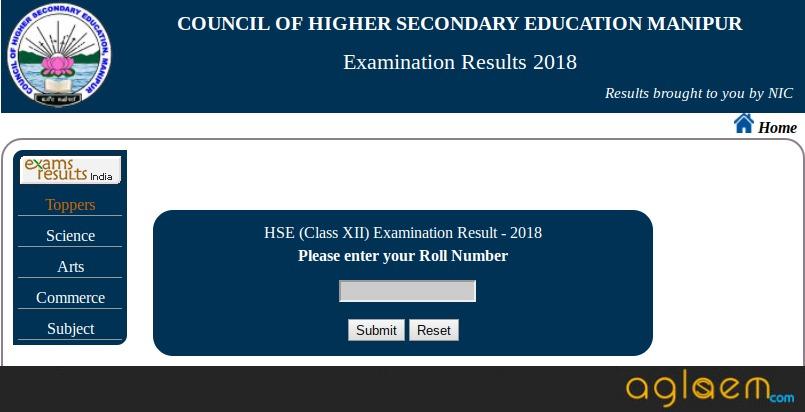 Manipur 12th Result 2018