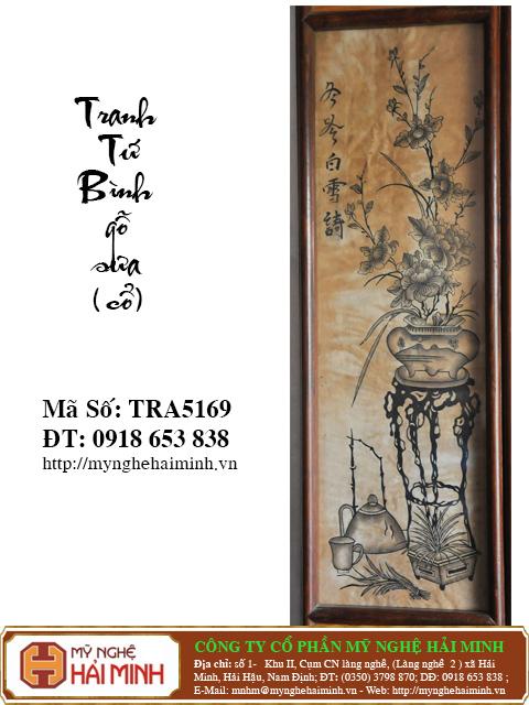 TRA5169i Tranh Tu Binh go Sua Co do go mynghehaiminh