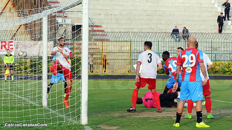 "Kalifa Manneh in gol allo stadio ""D'Alcontres-Barone"""