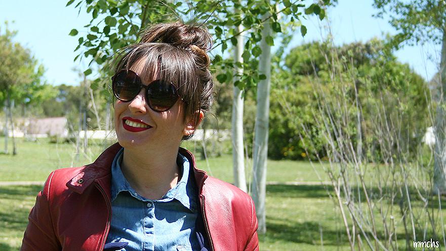 gafas de sol de mujer XL en color rojo