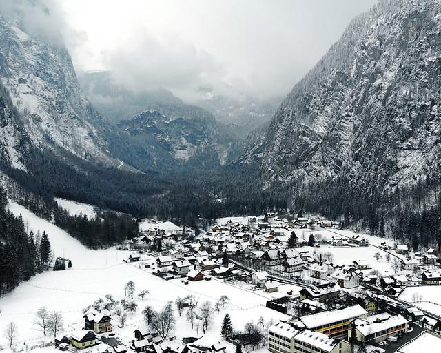 Valle de Hallstatt en Invierno
