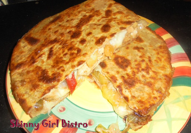 Photo - Quesadillas cut in half.