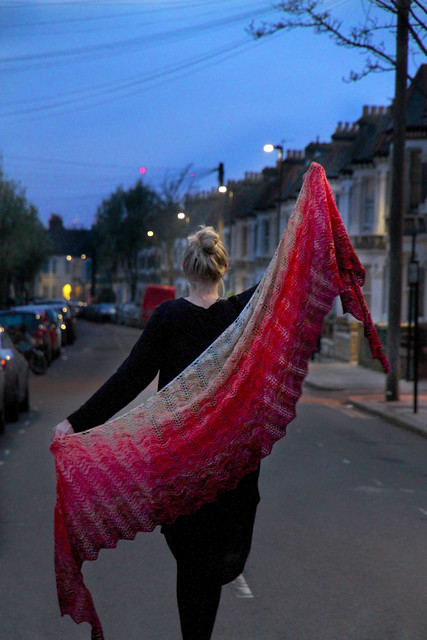 Blend In, Stand Out fade shawl knitting pattern by Brixton Purl