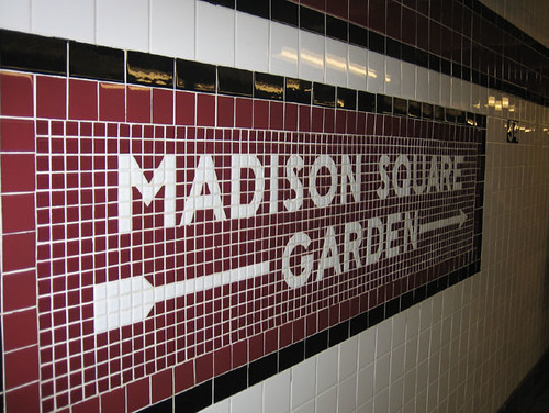 Madison square garden the tile mosaics in the subway stati flickr for Madison square garden employment