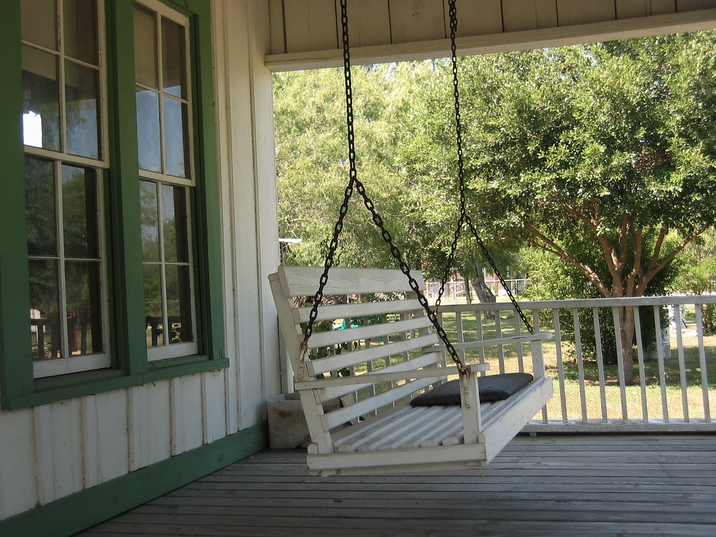 Porch swing in helena tx jon connell flickr for Old porch swing