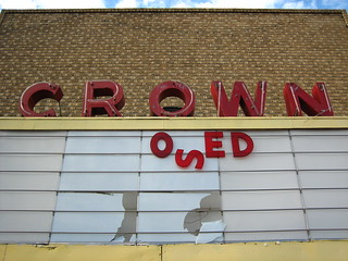 Closed, Crown Theater, Collinsville, Oklahoma | by Photographs By Wade