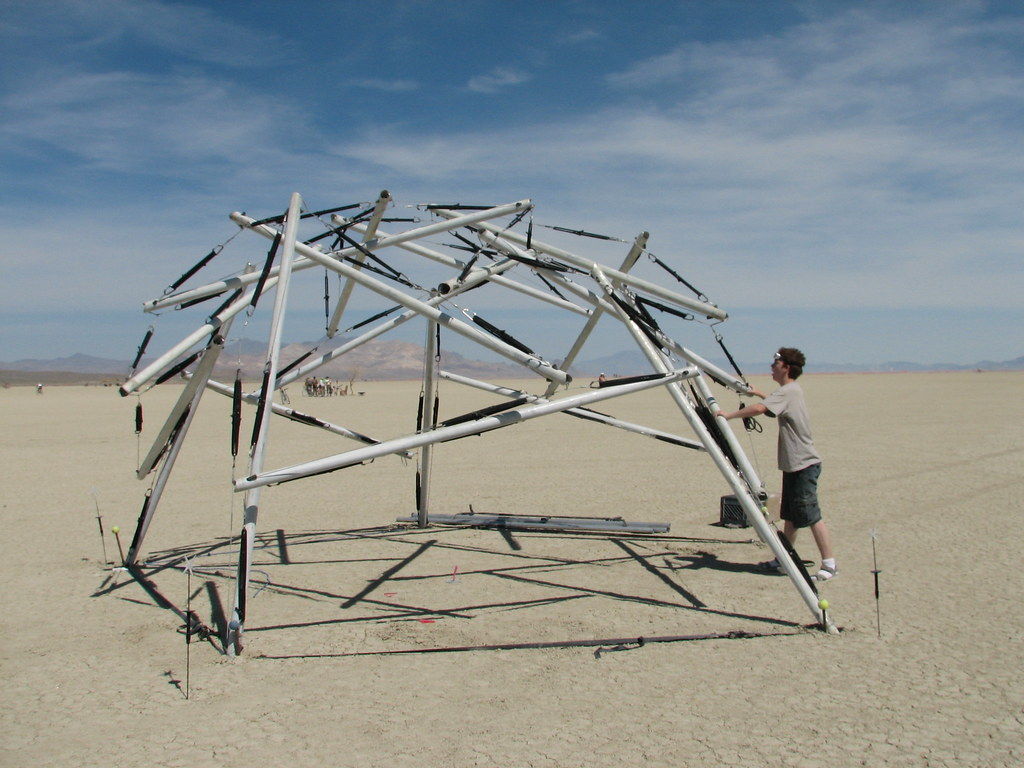 Mike tests tensegrity ...
