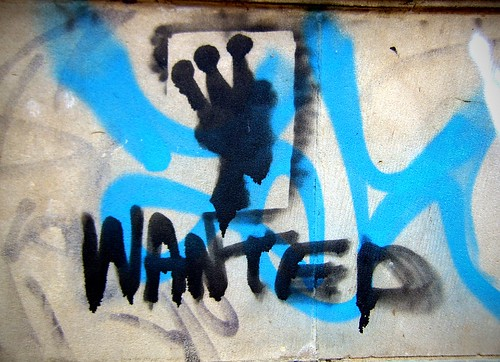 Graffiti: 'wanted' | by orangeacid
