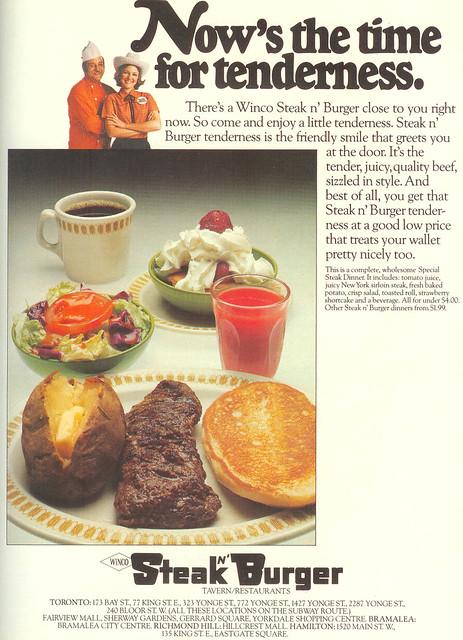 Vintage Ad #60 - Winco's Steak N' Burger