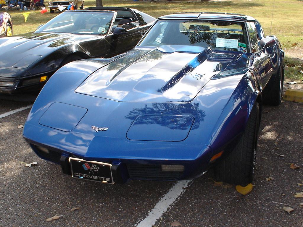 Corvette McAllen Car Show Blue Corvette - Mcallen car show