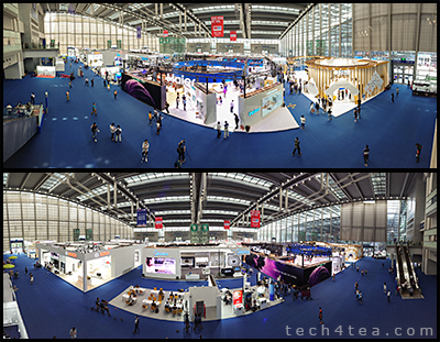 CE China 2018 show floor at Hall 9 of the Shenzhen Convention & Exhibition Center. Panoramic photos taken with a Sony Xperia XZ2.