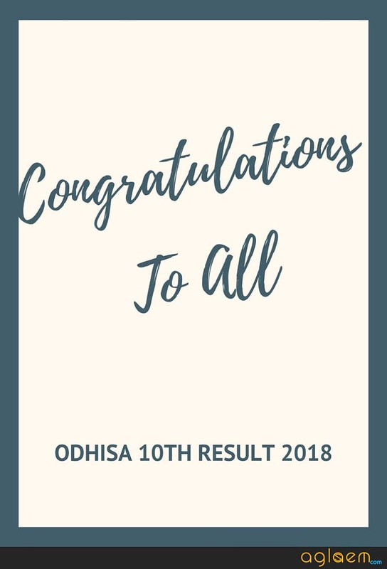 Odhisa 10th Result 2018 Roll Number Wise