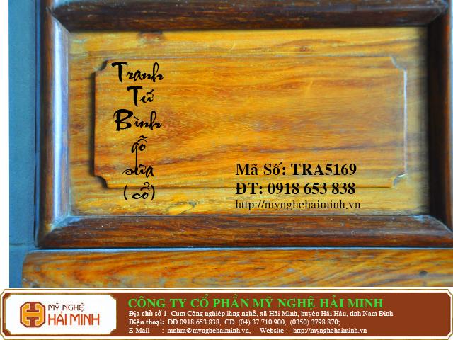 TRA5169e Tranh Tu Binh go Sua Co do go mynghehaiminh