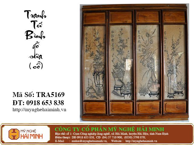 TRA5169a Tranh Tu Binh go Sua Co do go mynghehaiminh