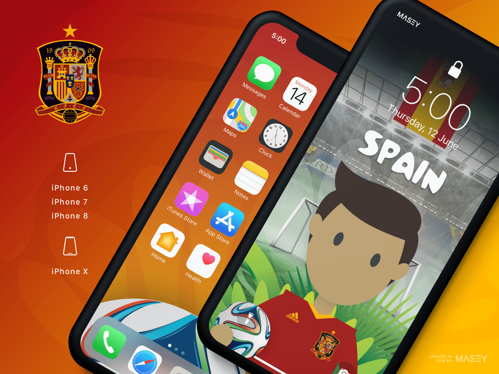 Team Spain iPhone Wallpaper