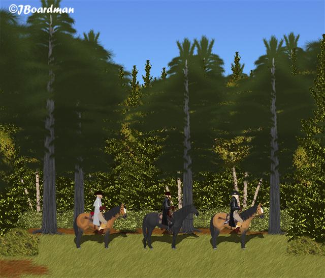 Alphonso AJ & Boomer rode through the woods ©Jboardman