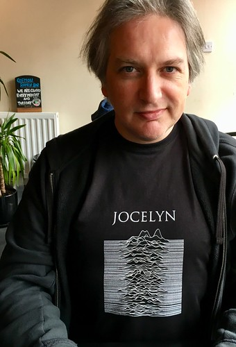 Wearing my new Jocelyn Bell Burnell T-shirt:    https://adactio.com/journal/13874 | by adactio