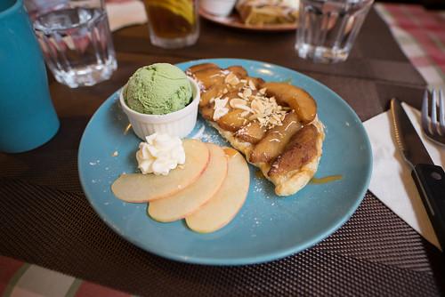 薯的即焗蘋果批配綠茶雪糕