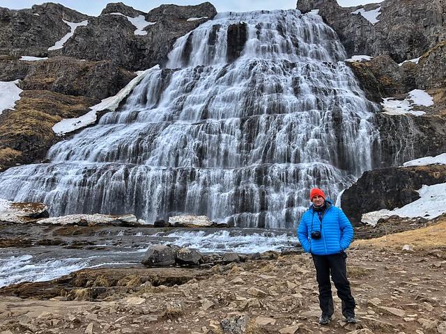 Sele en la catarata Dynjandi (Fiordos del oeste, Islandia)