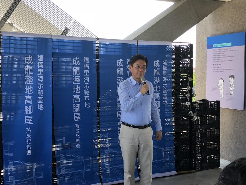 林務局長林華慶再度造訪成龍溼地,細數十年點滴。攝影:廖靜蕙