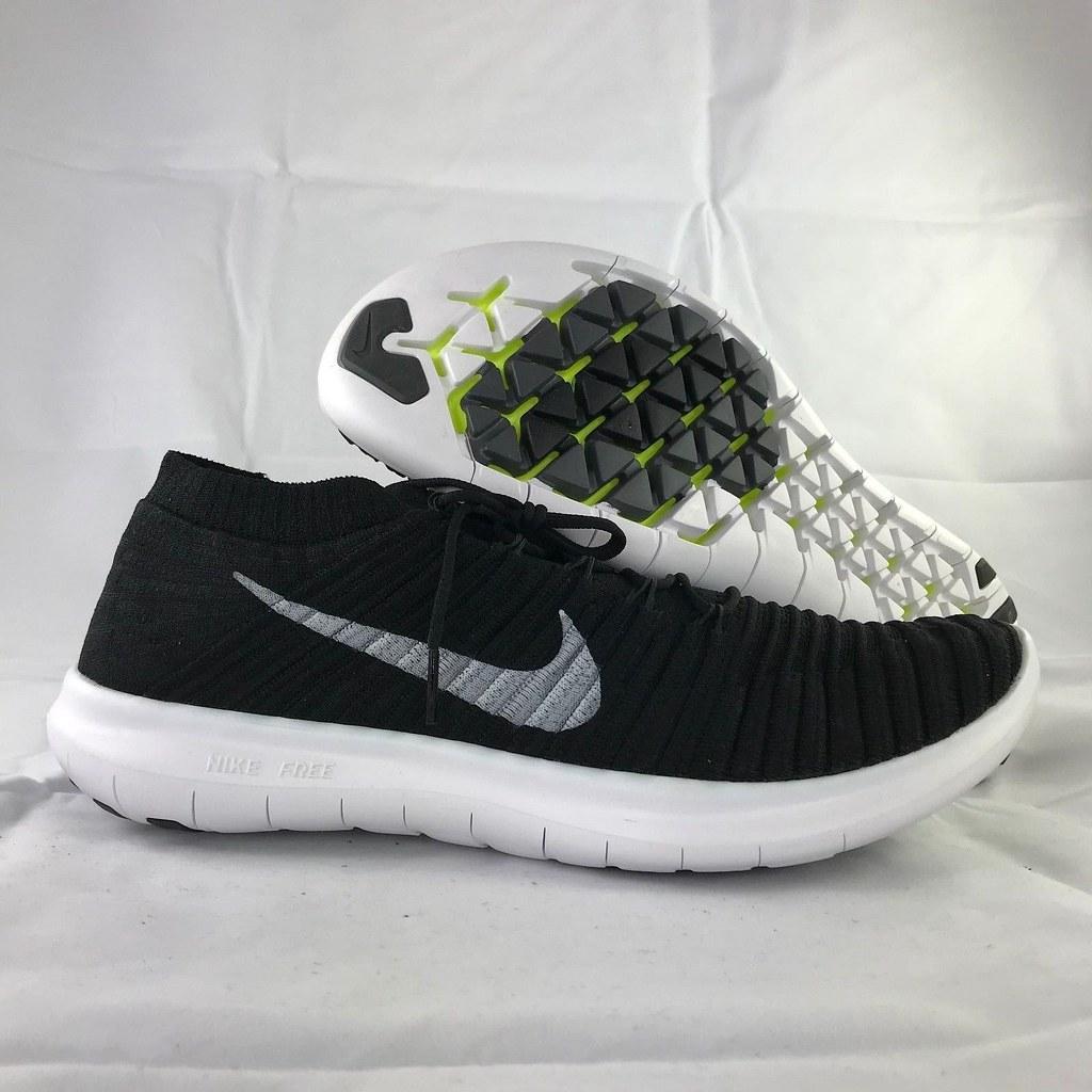 4d81875fbf605 ... Nike Free RN Motion Flyknit Black White Grey Running Shoes 834584-001  Mens 12-