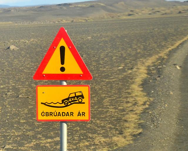 Carreteras sólo para 4x4 en Islandia