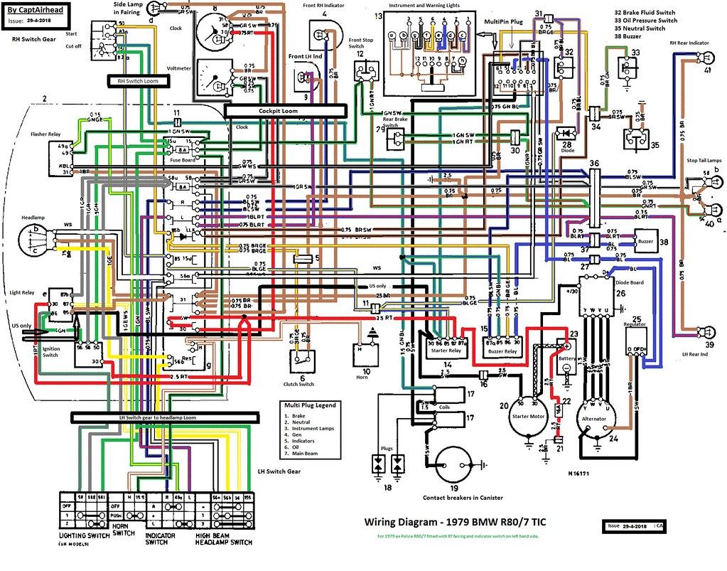 ... BMW R80/7 TIC updated wiring diagram | by Ian Beat