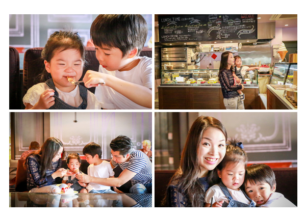 Japanese family photographer based in Nagoya, Aichi, Japan, shooting for client from Hong Kong in a cafe