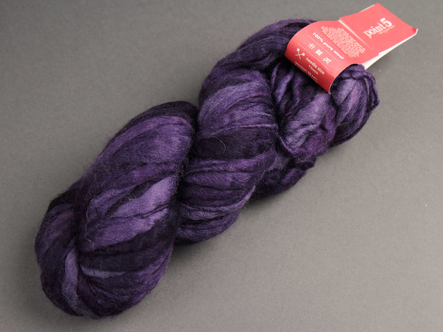 Destash yarn: Colinette Point 5 hand dyed pure wool super chunky 100g – 117 'Velvet Bilberry' (purple)