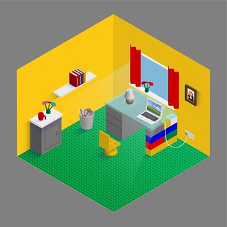Lego Style Home Office | by binghamselfstorage