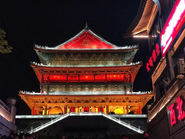 Torre del tambor en Xi'an (China)