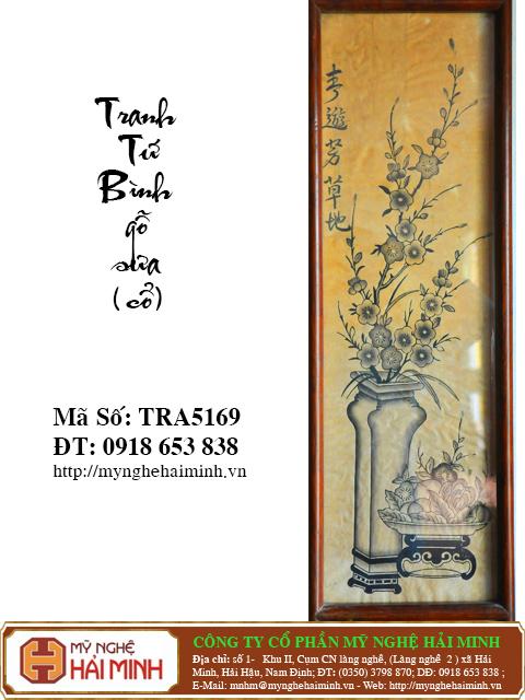 TRA5169f Tranh Tu Binh go Sua Co do go mynghehaiminh