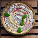 Rhabarber-Schmand-Tarte mit Marzipan