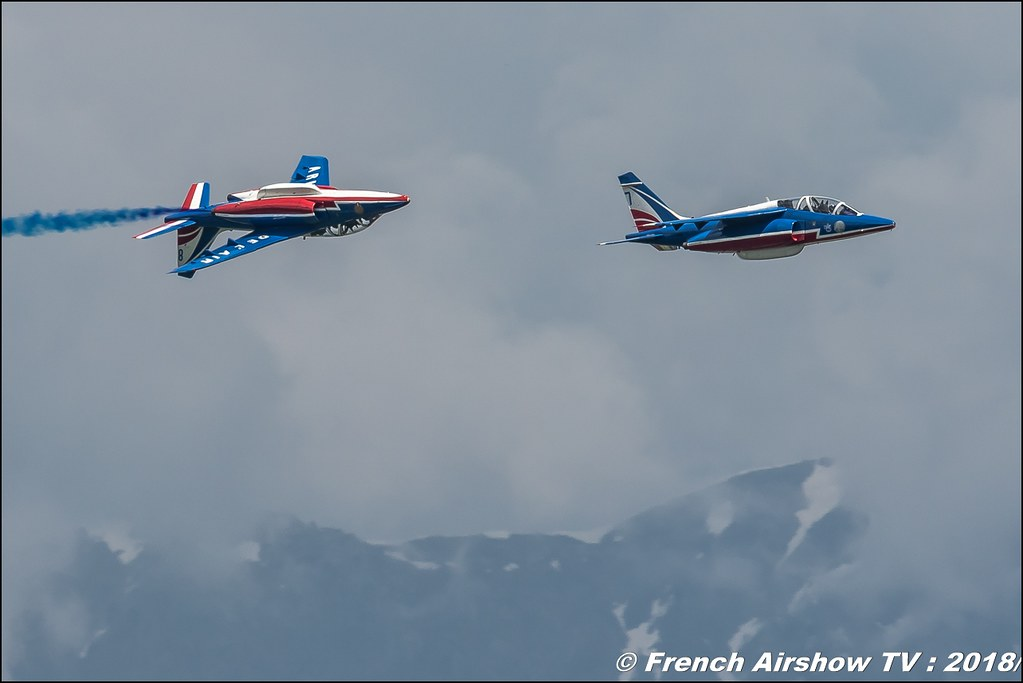 Patrouille de France , patrouille acrobatique officielle de l'Armée de l'air française , Alpha Jet , Meeting Aérien Gap-Tallard 12 mai 2018 - Alpes-Envol , Association AGATHA Canon EOS , Sigma France , contemporary lens , Meeting Aerien 2018