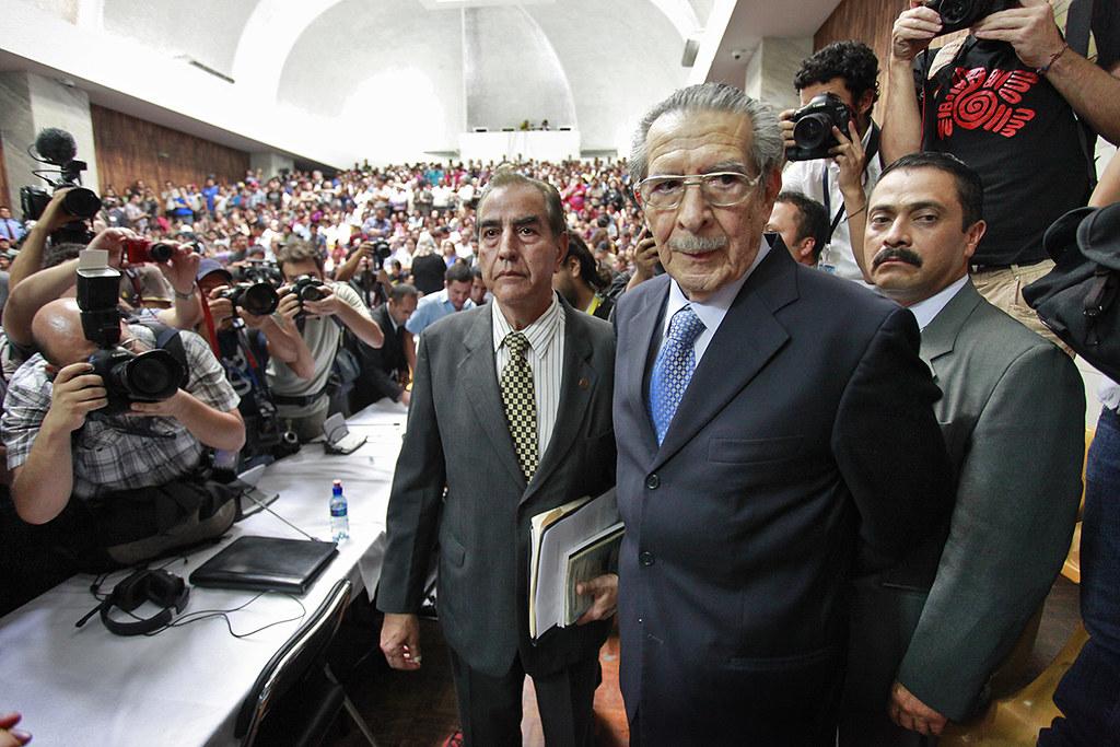 前瓜地马拉总统李欧斯・蒙特(图中)。2013年,瓜地马拉最高法院以违反种族屠杀与反人道罪判处他80年有期徒刑。(图片来源:Daniel Hernández-Salazar)
