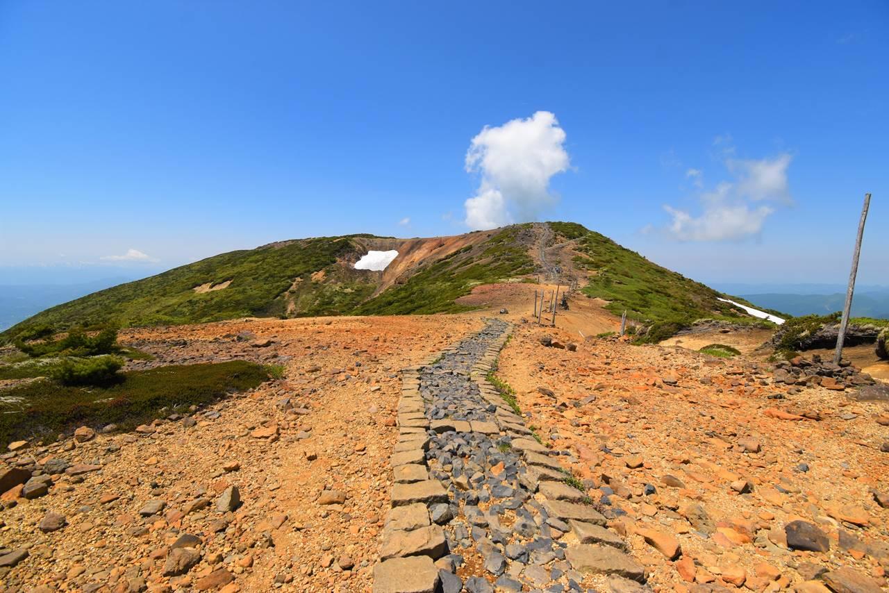 熊野岳から地蔵山までの登山道