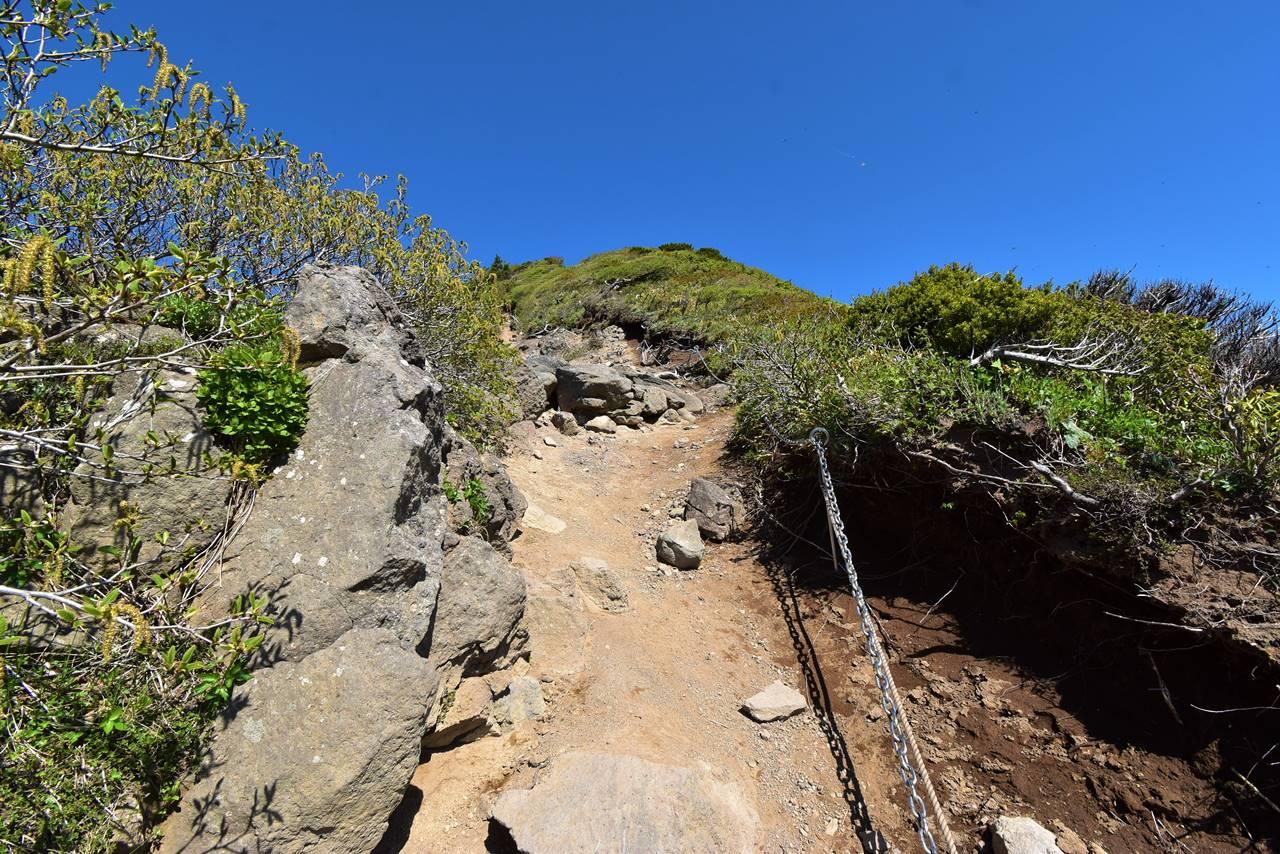 不忘山登山 稜線のアップダウン