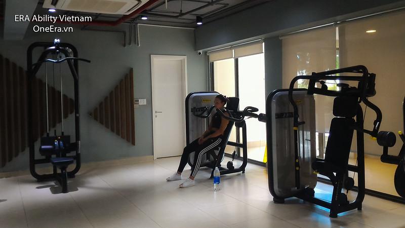phòng gym rộng rãi Masteri Thảo Điền
