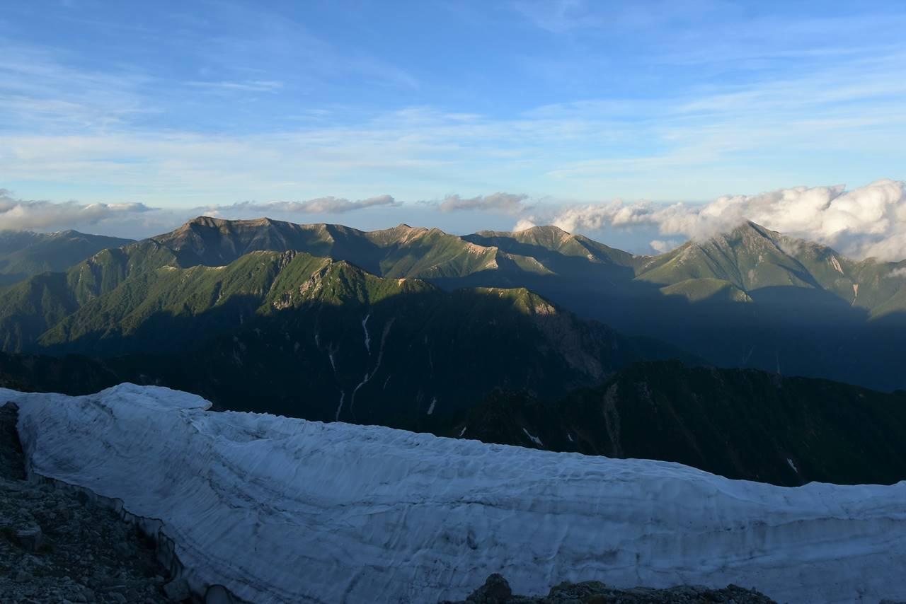 南岳から眺める表銀座