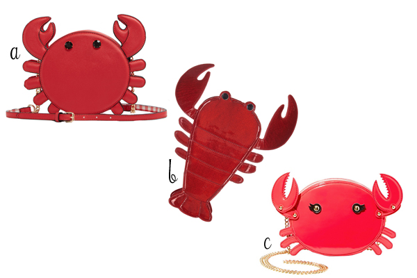 lobster novelty purses