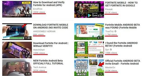 Cantidad-de-visualizaciones-en-YouTUbe-que-han-tenido-las-falsas-aplicaciones-de-Fortnite-para-Android