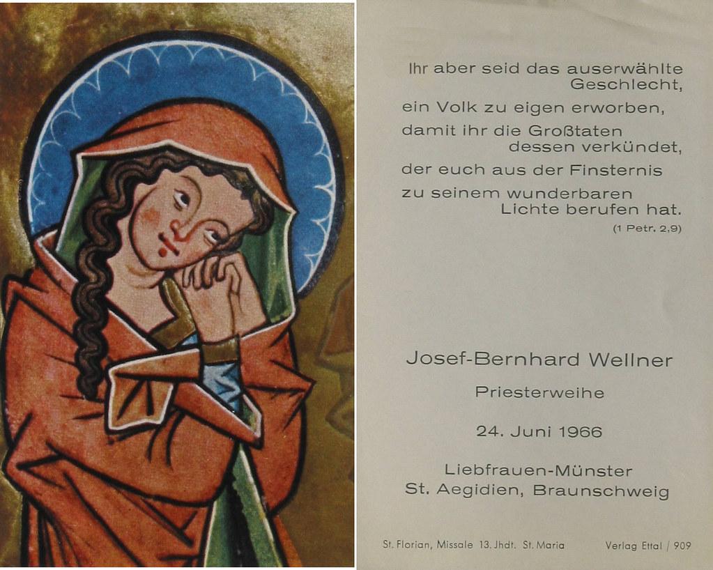 Priesterweihe Wellner, Josef-Bernhard 24.06.1966