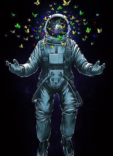 ... Fortnite Wallpaper : #astronaut #space #art #buterfly | By Kw GeeK
