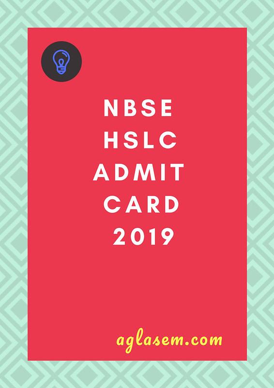 Nagaland Board 10th Admit Card 2019