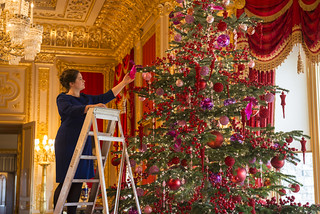 The Crimson Drawing Room dressed for Christmas | by The British Monarchy