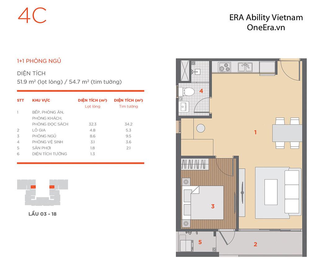 Mặt bằng tầng và thiết kế căn hộ Hausneo 53